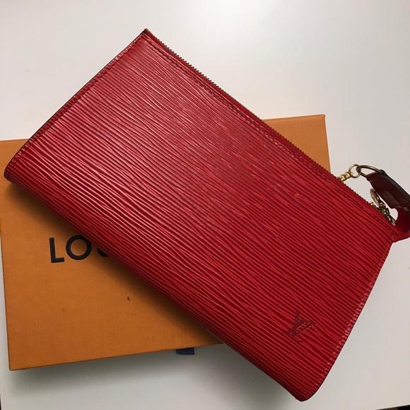 Louis Vuitton Bags Red Lv Clutch Poshmark